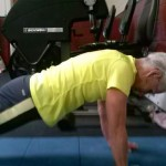Before: using shoulders to hold a plank